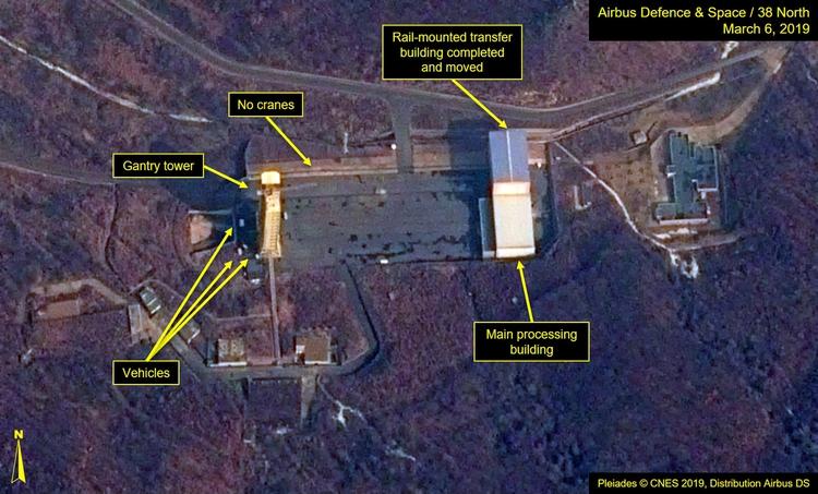 Una imagen satelital de Sohae, tomada en marzo de 2019 (Reuters)