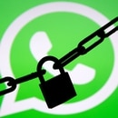 FILE PHOTO: A photo illustration shows a chain and a padlock in front of a displayed Whatsapp logo January 13, 2017. REUTERS/Dado Ruvic/Illustration/File Photo