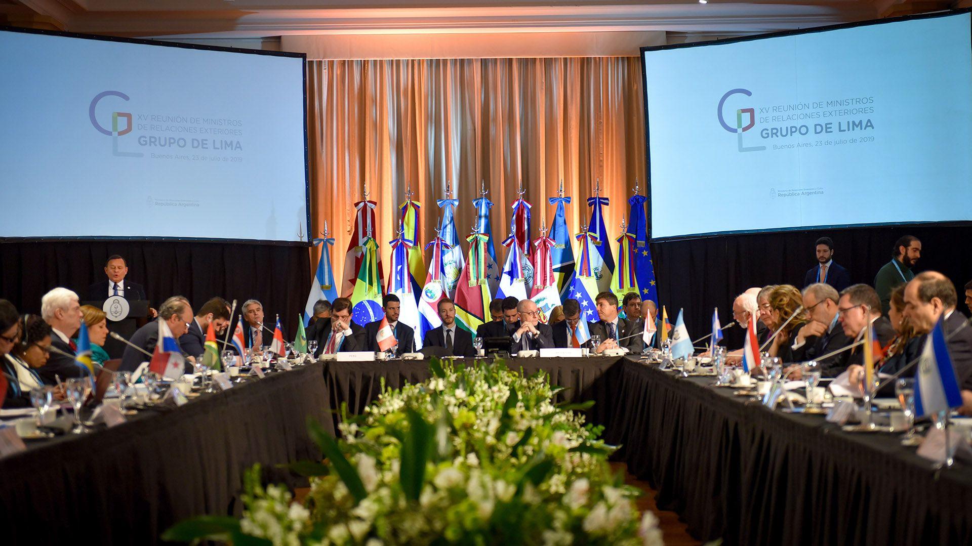 El Grupo de Lima realizó la convocatoria internacional para la Conferencia
