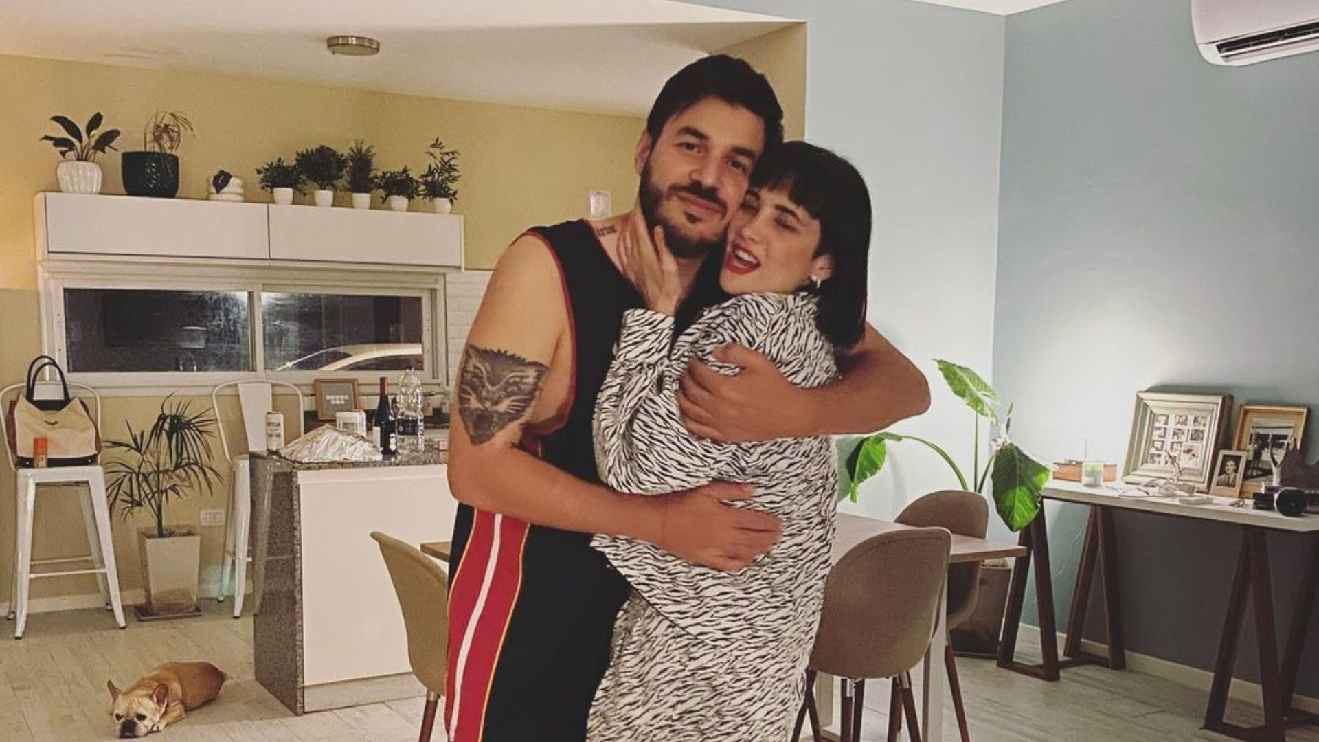 Flor Torrente y su novio