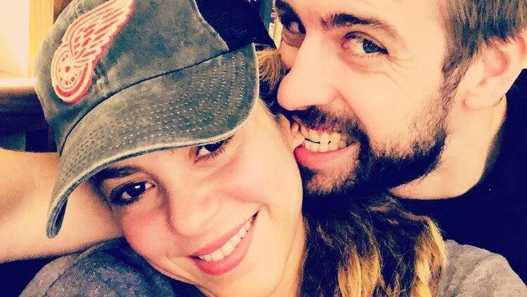 Shakira y Piqué, en una foto que posteó el futbolista