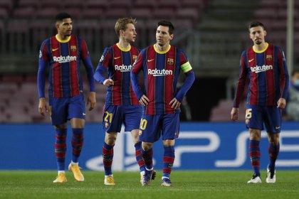 El Barcelona de Lionel Messi no pudo asegurar el liderazgo en su grupo de la Champions (REUTERS)