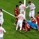 Soccer Football - World Cup - Group B - Iran vs Spain - Kazan Arena, Kazan, Russia - June 20, 2018 General view of a goal mouth scramble REUTERS/John Sibley