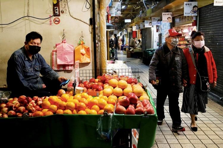 Un mercado en Taiwan (Reuters)