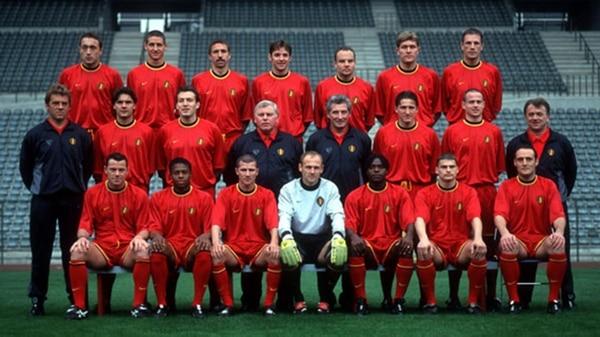 El plantel de Bélgica en la Eurocopa 2000