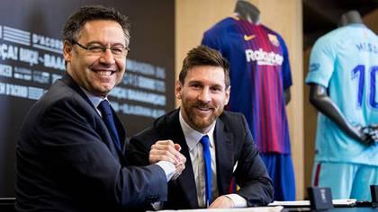 Bartomeu y Messi, presidente y capitán del Barcelona (Reuters)