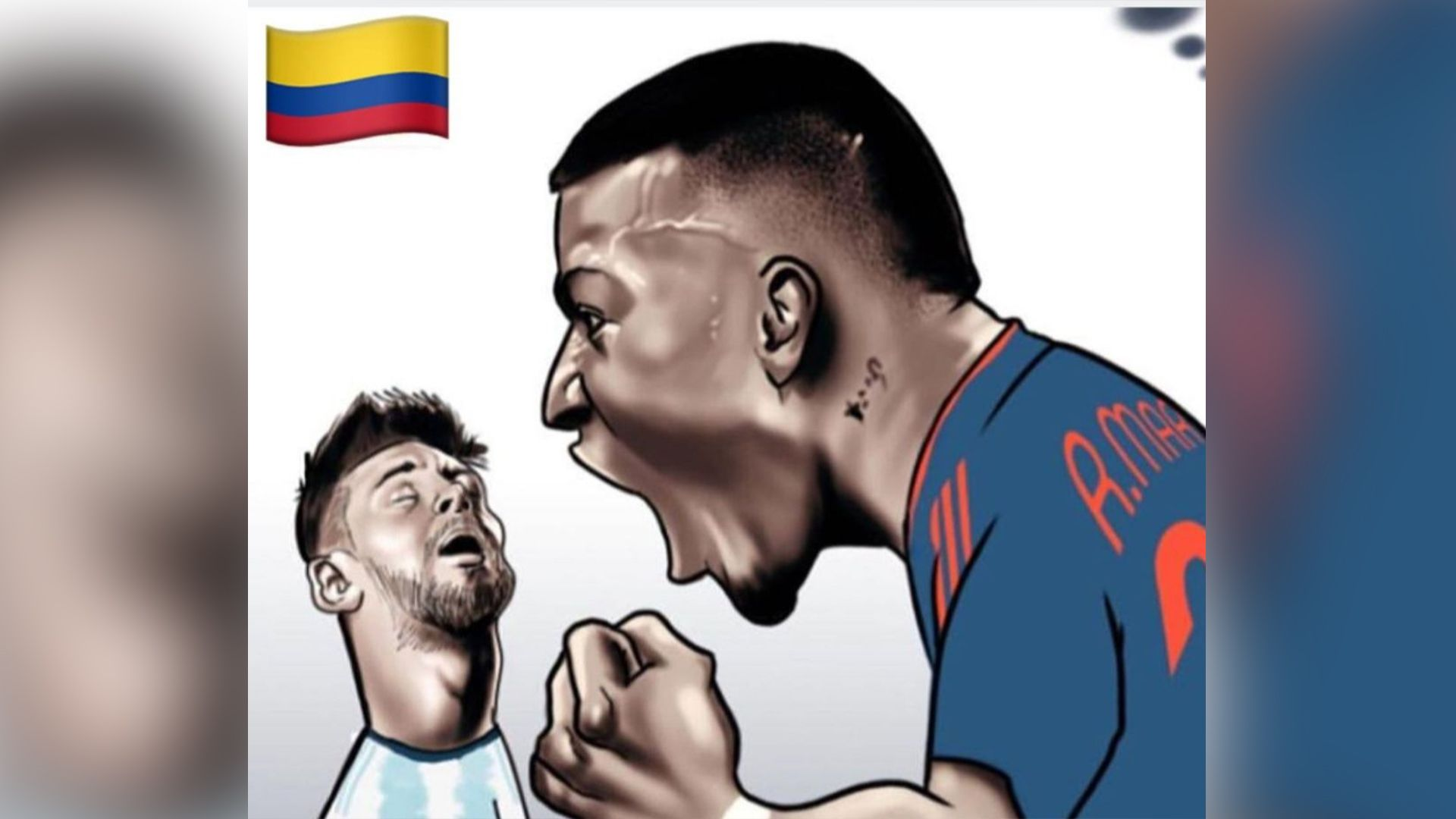 Publicaciones provocadoras de Roger Martínez contra Argentina