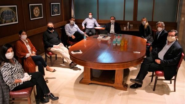 Senadores del bloque del PRO convovados por Humberto Schiavoni