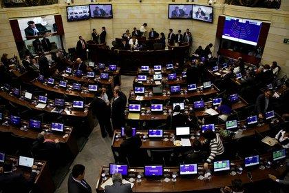 Vista general del Senado de Colombia en Bogotá; (Colombia). EFE/Leonardo Muñoz/Archivo