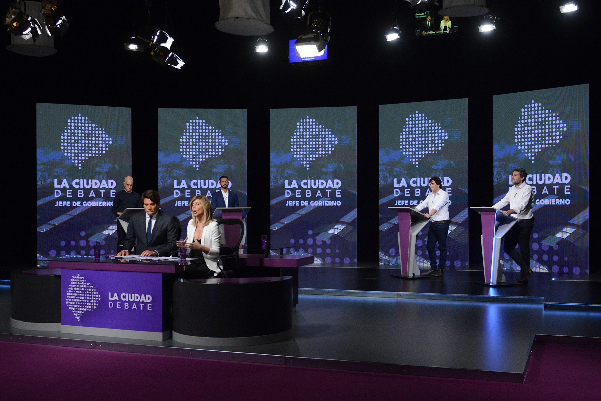 Los candidatos debatieron durante dos horas sobre las diferentes temáticas vinculadas a CABA (Télam)