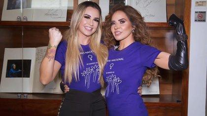 Maria José y Gloria Trevi coincidieron en un evento de radio en el Auditorio Nacional de Ciudad de México (Foto: Instagram @lajosa)