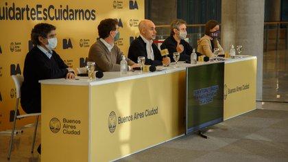 Rodríguez Larreta, ayer, al presentar el nuevo esquema de aislamiento en la Capital.