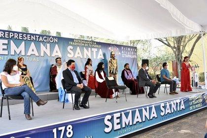 Clara Brugada comentó que la Pasión de Cristo en Iztapalapa, es una de las más significativas conmemoraciones que se efectúan en el país (Foto: Twitter/ @Alc_Iztapalapa)