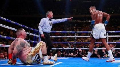 Joshua había derribado primero a su rival (Foto: Reuters)