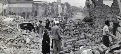 San Juan, una ciudad devastada, en la que se destruyeron el 90 por ciento de los edificios, la mayoría de adobe.