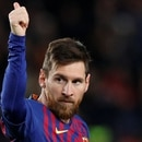 Soccer Football - La Liga Santander - FC Barcelona v Eibar - Camp Nou, Barcelona, Spain - January 13, 2019 Barcelona's Lionel Messi celebrates scoring their second goal REUTERS/Albert Gea