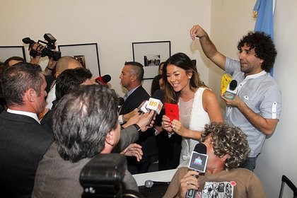 Karina Jelinek atendió a la prensa (Foto: Teleshow.com / Verónica Guerman)