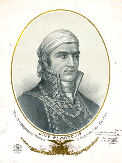 Retrato de Morelos, lider del Ejército Insurgente del Sur durante la Independencia (Foto: Wiki Commons)