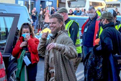 """Matt Damon volvió a trabajar: el actor se sumó a la filmación de """"The Last Duel"""", la película histórica dirigida por Ridley Scott que se está llevando a cabo en Irlanda. También es protagonizada por Jodie Comer y Adam Driver (Foto: Vantage News / The Grosby Group)"""