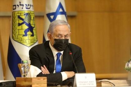 Benjamín Netanyahu. Foto: Amit Shabi/Pool via REUTERS