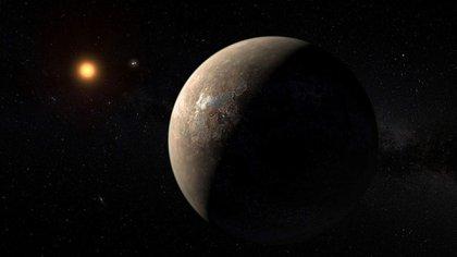 Recreación de un posible mundo habitable a años luz de la Tierra