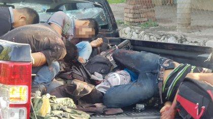 Civiles armados abatidos durante e enfrentamiento en Iguala (Fotos: especial)