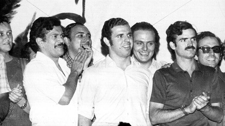 Los dirigentes montoneros Roberto Quieto, Mario Firmenich, Rodolfo Galimberti y Fernando Vaca Narvaja