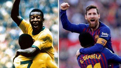 Messi superó a Pelé como el máximo goleador en la historia con un mismo club