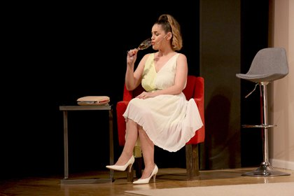 La actriz, sobre el escenario del Teatro Candilejas