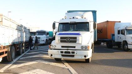 Bloqueo de camiones