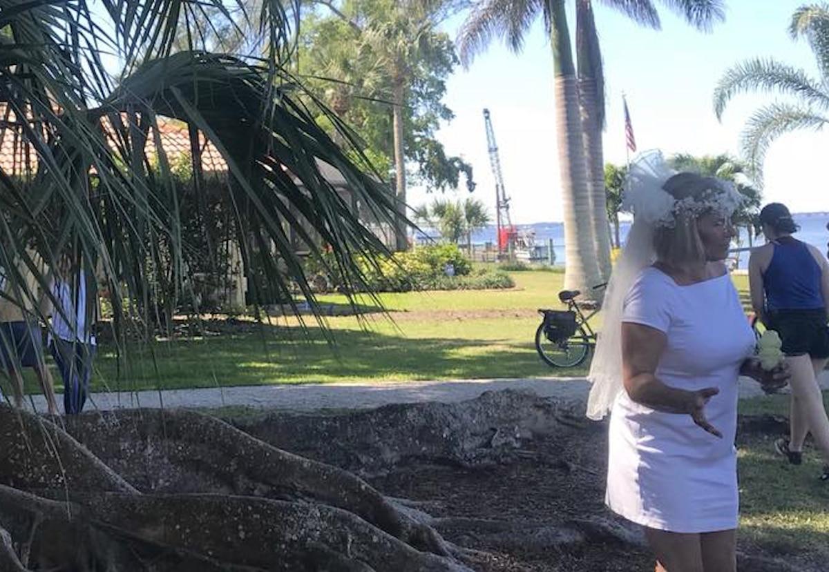 """Image result for Una mujer se """"casó"""" con un viejo árbol para evitar que lo talen"""