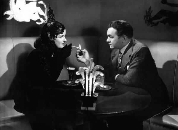 """Joan Bennett y Edward G. Robinson en """"La mujer del cuadro"""" (Fritz Lang, 1944)"""