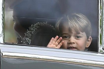 El príncipe George durante la boda de su tía Pippa Middleton (AFP)