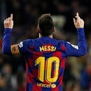 Soccer Football - La Liga Santander - FC Barcelona v RCD Mallorca - Camp Nou, Barcelona, Spain - December 7, 2019 Barcelona's Lionel Messi celebrates scoring their fifth goal to complete his hat-trick REUTERS/Albert Gea