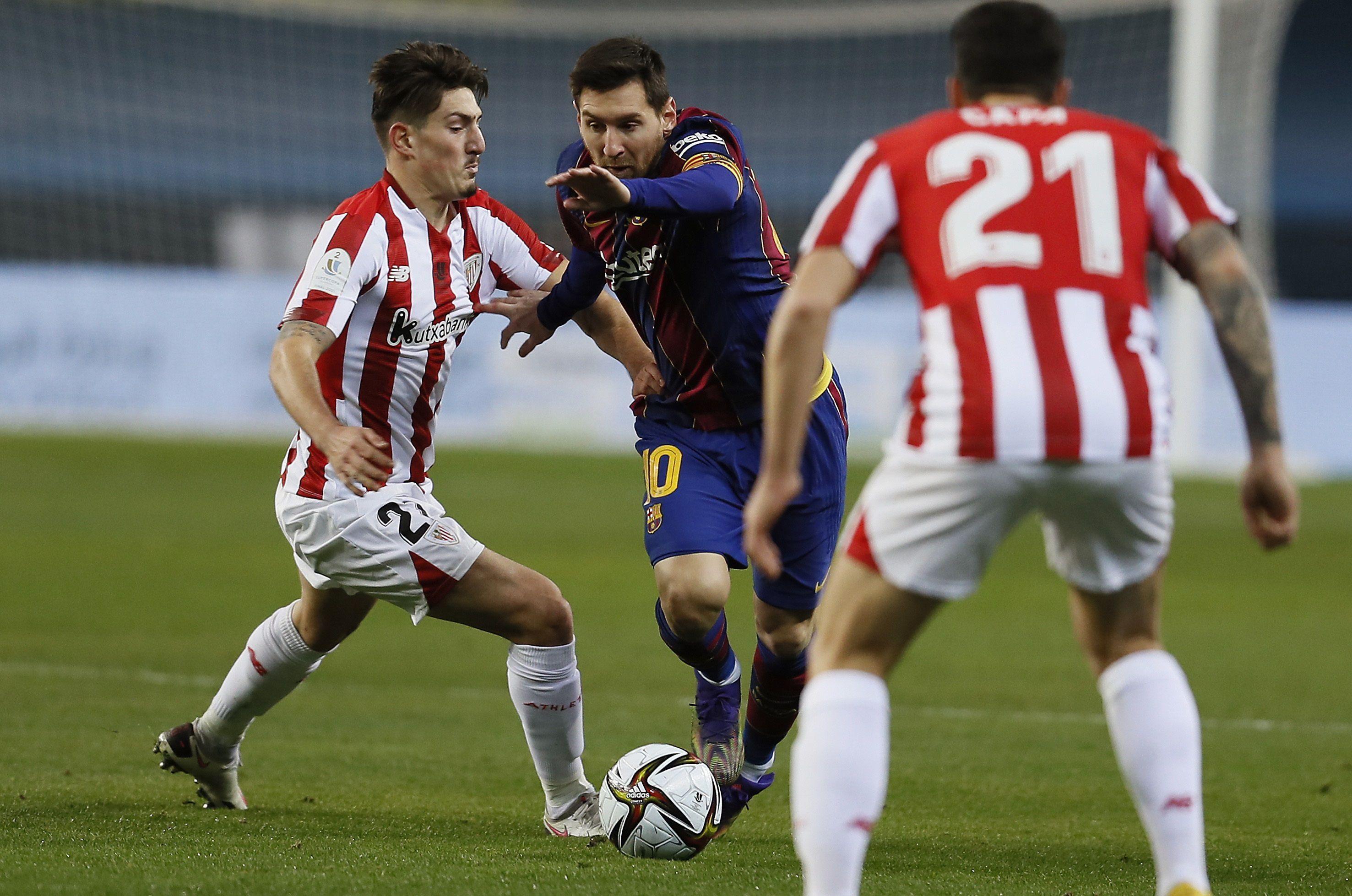 El delantero argentino del FC Barcelona, Leo Messi, es titular ante el Bilbao (EFE)
