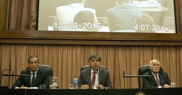 Los jueces Jorge Luciano Gorini, Rodrigo Giménez y Jorge Alberto Tassara