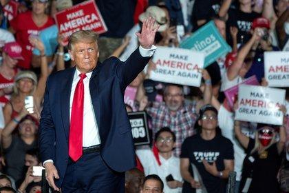 Dans l'image, l'ancien président américain Donald Trump.  EFE / Cristóbal Herrera / Archives