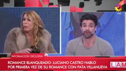 Pata Villanueva habló del romance con Luciano Castro