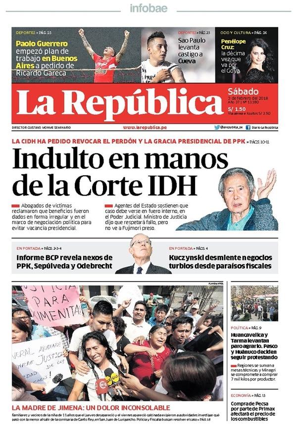 La República - Perú - 3 de Febrero de 2018 - Infobae