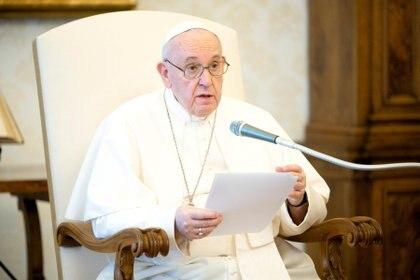 El papa Francisco en la audiencia general de este miércoles (Vatican Media/Handout via REUTERS)