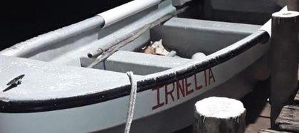Irnelia, la lancha en la que se movilizaba el colombiano