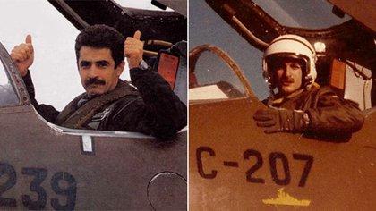 """El capitán Pablo Carballo y su """"numeral de hierro"""" Carlos Rinke."""