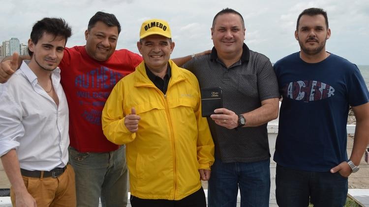 Equipo de campaña: Eduardo Virgili, Fernando Amaro, Alfredo Olmedo, Víctor Albarraciín y Cristian Achaval