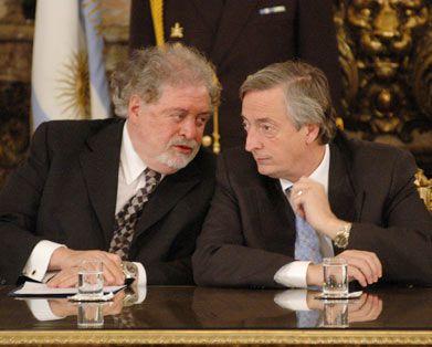 Ginés González García y Néstor Kirchner