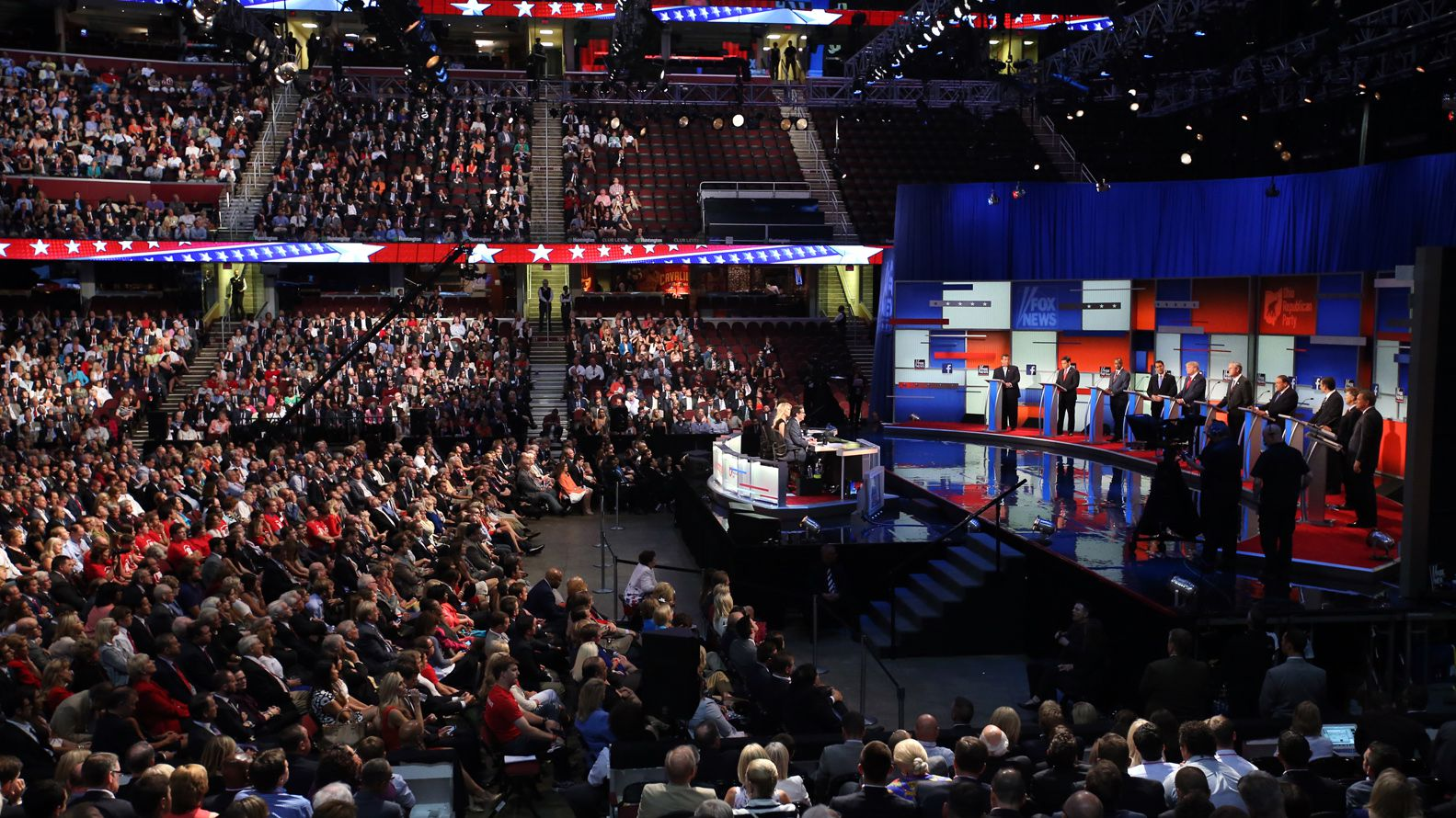 El último debate de la interna republicana en Cleveland Ohio. En ciudad se realizará este martes el enfrentamiento verbal entre Trump y Biden, pero sin público.