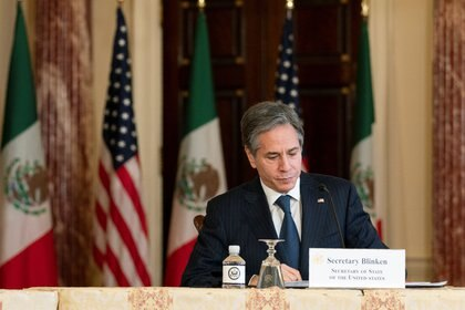 Habló también con el canciller mexicano Marcelo Ebrard sobre migración Foto: Manuel Balce Ceneta/Pool via REUTERS