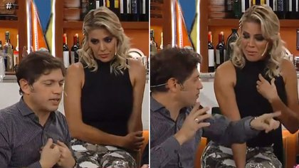 "Axel Kicillof evitó responder la pregunta de Virginia Gallardo en ""Polémica en el Bar"" (imágenes: captura tevé)"