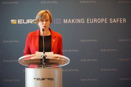 La directora de Europol, Catherine de Bolle. EFE/ Imane Rachidi/Archivo