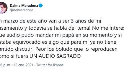 Dalma Maradona le respondió a Luis Ventura