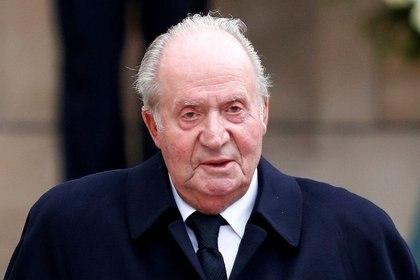 El rey emérito de España, Juan Carlos, tras la celebración del funeral por la muerte del duque de Luxemburgo celebrado en la Catedral de Nuestra Señora de Luxemburgo, en mayo de 2019 (Reuters)